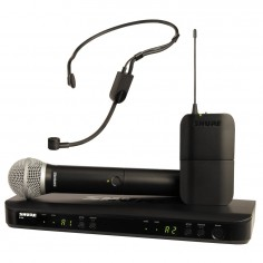 Sistema Micrófono Inalámbrico BLX Doble Combinado, Mano/Vincha, PG58 + PGA31