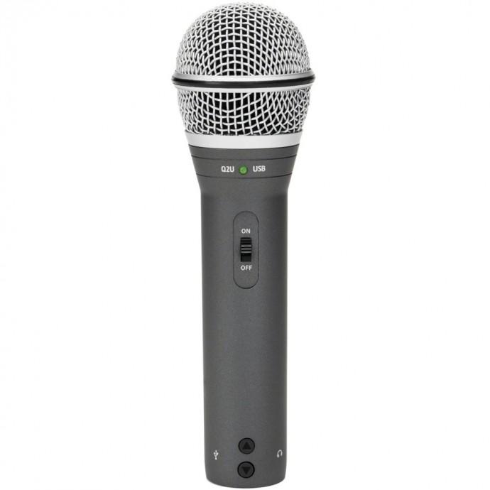 Q2 Mic con USB y XLR (Pack de grabación) Mic + Auricular HP20