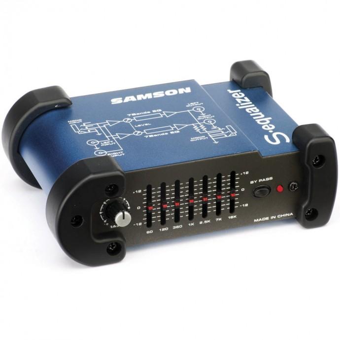 Samson S-EQ mini equalizador grafico siete bandas.