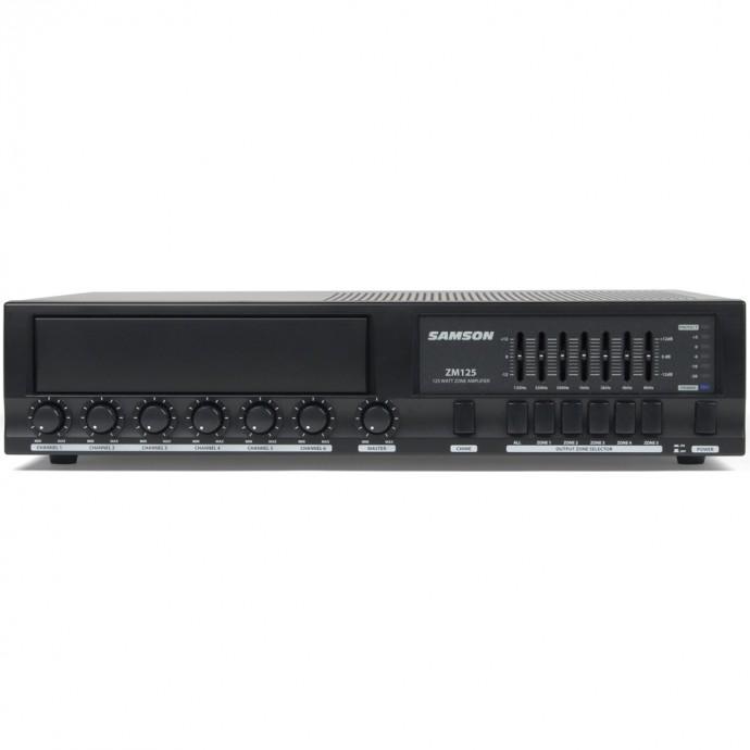 Samson ZM125 mixer + amplificador multizona para instalacion 125  wats.