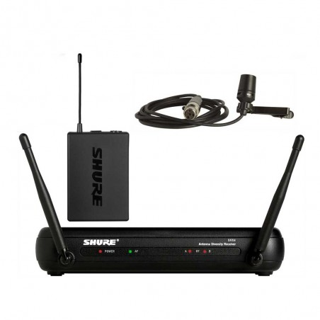 Sistema Micrófono Inalámbrico SVX14, UHF, Diversity, Frec Modif, Corbatero