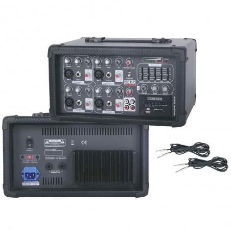Blg MA4100B mixer potenciado 4ch. 75 watts.