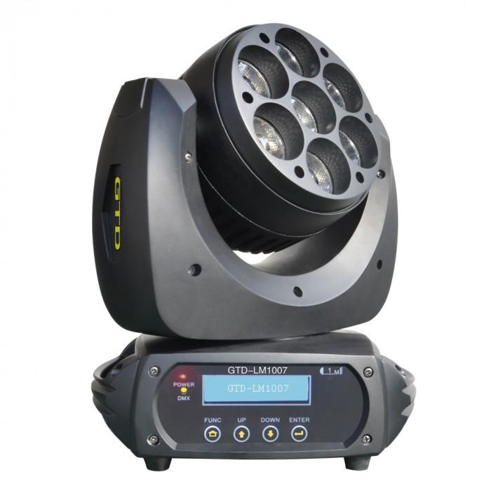 Cabezal móvil de led, OSRAM LED 10W x 7u,RGBW four-in-one,Lens angle: 15°, 25°, DMX /RDM, MCx2