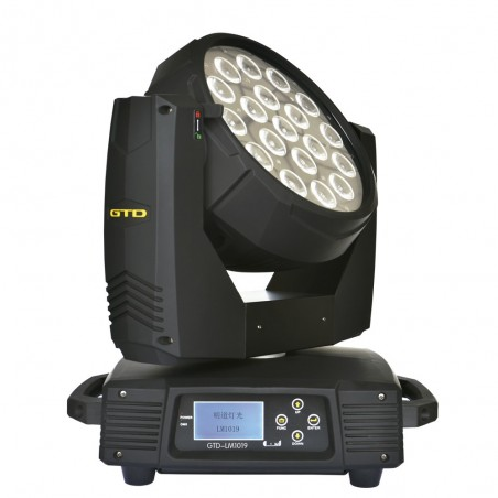 Cabezal móvil de led OSRAM LED 10W x 19u, RGBW four-in-one, Lens angle: 15°, 25° opt, IP20