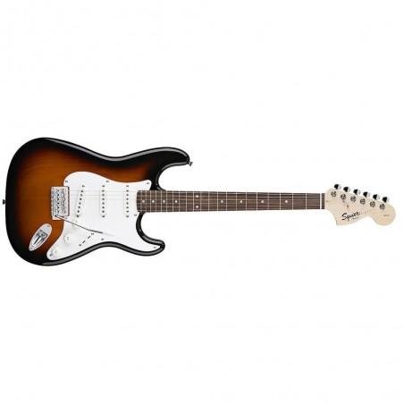 Guitarra eléctrica Stratocaster Squier Affinity RWN, SSS, Brown Sunburst