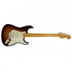 Guitarra eléctrica Stratocaster American Deluxe V Neck, MN, Noiseless, c/Estuche, 2T Sunburst