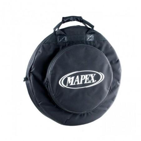 Funda de platillos, con bolsillo externo para hi-hat, manija y correas tipo mochila