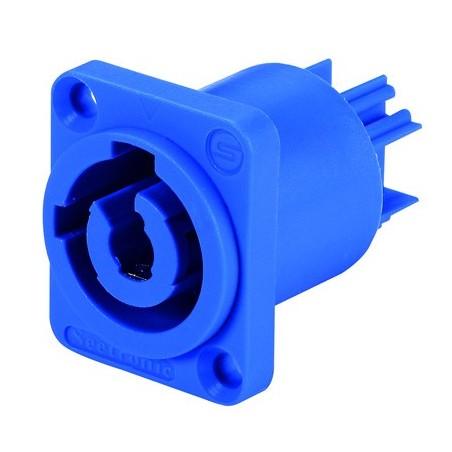 Conector powercon macho p/ chasis AZUL (Cuadrado)