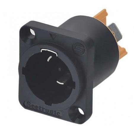 Conector powercon IN para chasis (nueva generación) p/ intemperie (norma IP65)