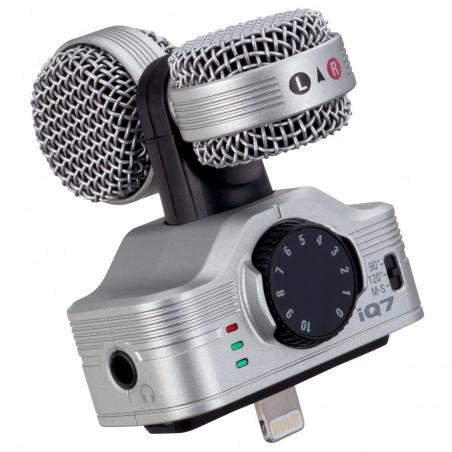 Mic stéreo Condenser M-S (90-120º) p/Iphone, Ipad, Ipod, iOS 6,0 en adelante, 44.1kHz/16bit
