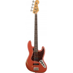 Bajo Elec. Jazz Bass 60's Road Worn Mexico, RWN, c/Funda, Fiesta Red