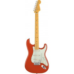 Guit. Elec. Stratocaster American Deluxe V Neck, MN, Noiseless, c/Estuche, Fiesta Red