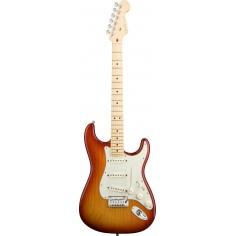 Guit. Elec. Stratocaster American Deluxe Ash, MN, Noiseless, c/Estuche, Aged Cherry Sunburst