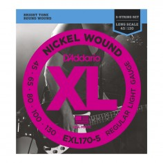 Encordado p/bajo eléctrico EXL170-5, 5 cuerdas, blandas, 045-130, escala larga