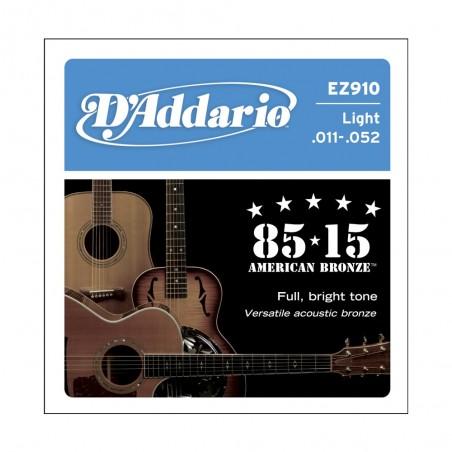 Encordado p/Guit acústica EZ910 bronce 85/15, blandas, 011-052