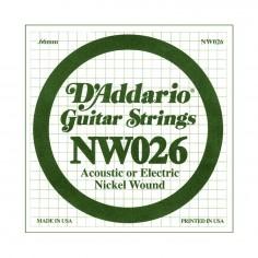 Cuerda suelta NW026 con entorchado en níquel p/guit eléctrica .026