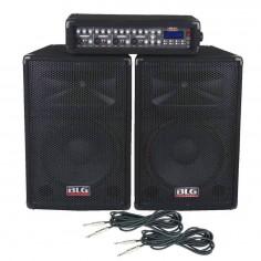 Sistema de sonido RMX 4215 consola 150W + bafles