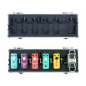 Flight case for Micro pedals and mini Wah with 6 plug multi