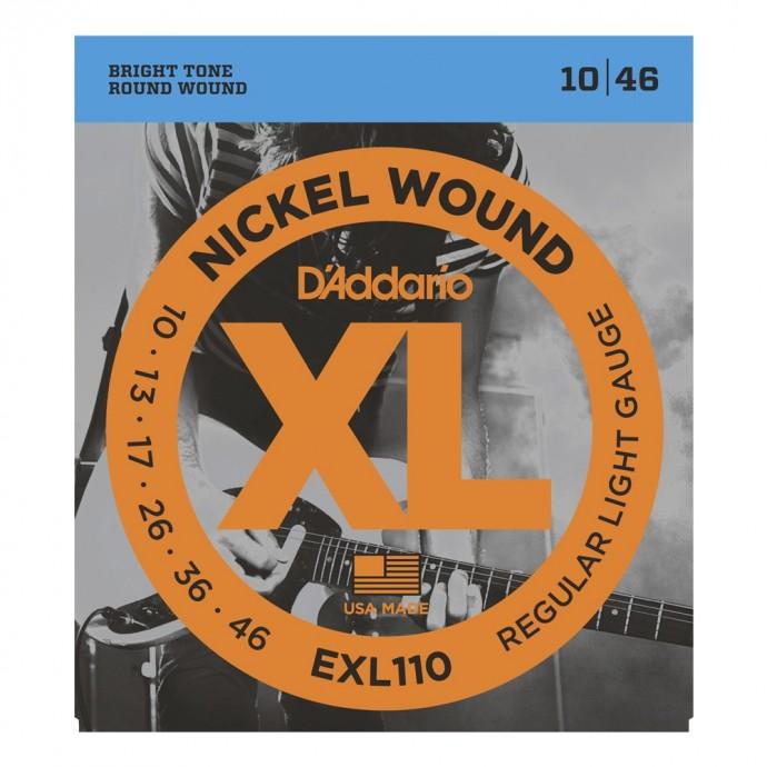 Encordado p/guit eléctrica EXL110 nickel, regular blandas, 010-046