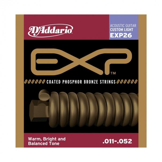 Encordado p/Guit acústica EXP26 bronce, blandas personalizadas, 011-052