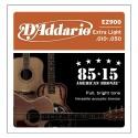 Encordado p/Guit acústica EZ900 bronce 85/15, extra blandas, 010-050