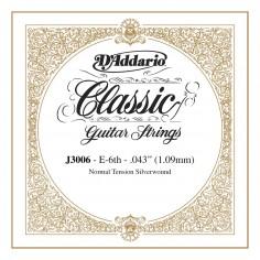 cuerda suelta p/Guit clásica J3006 tensión normal, 6ta cuerda