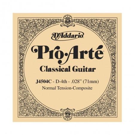 cuerda suelta p/Guit clásica J4504 compuesta, tensión normal, 4ta cuerda