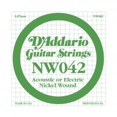 Cuerda Suelta, NW 042 Nickel Wound x 1 (MC-sobre x5)