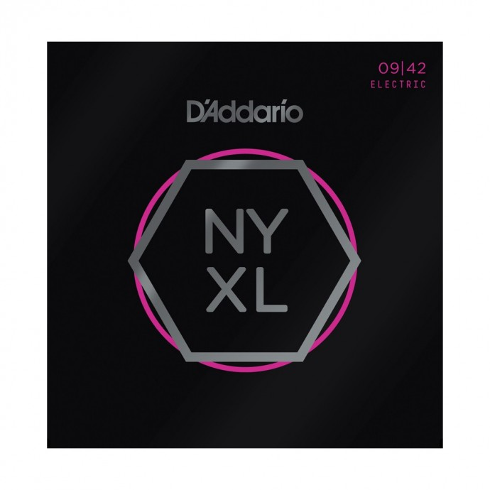 Encordado p/guit eléctrica NYXL0942 con entorchado de Nickel, Super Light, 9-42