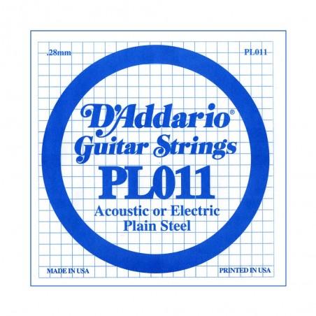 Cuerda suelta PL011 de acero liso p/guitarra, .011
