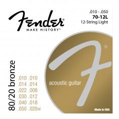 Encordado p/Guit. Acústica 70-12L Bronce 80/20 .010-.048 12 cuerdas