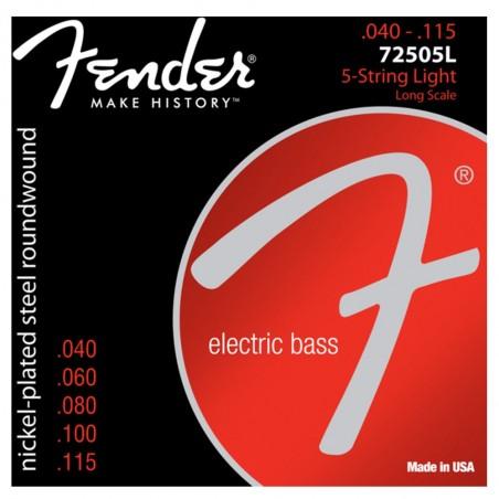 Encordado p/Bajo Eléctrico 7250-5L 040-115 5 cuerdas
