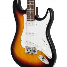 Guitarra eléctrica EG-P15SN-KNS t/ STR, 3 microf, palanca,c: Sunburst
