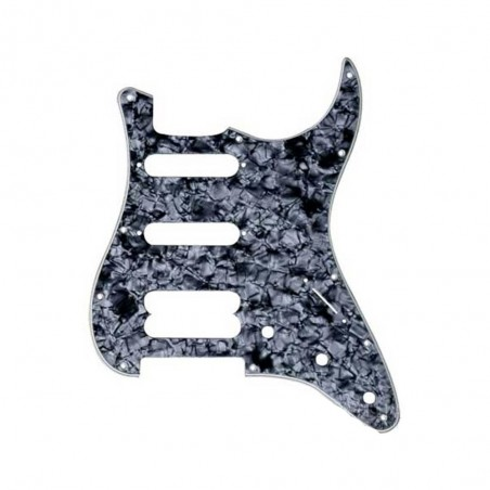 Pickguard Stratocaster AM STD, HSS, Negro Perlado