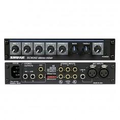 Mixer para micrófono Stereo, 2XLR + 3St, atenuacion aut., mute, 1/2 Rack SCM262E