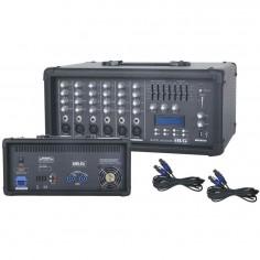 Blg MC 6300B mixer potenciado 6ch. 250 watts.