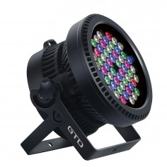 LED PAR LIGHT w/Zoom, LED 6W x54u,RGB three-in-one, Beam angle: 15°-50° linear zoom, IP67