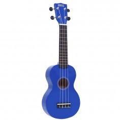 Ukelele, tipo soprano, con cuerpo y mango de sengon, puente de Mahogany, azul