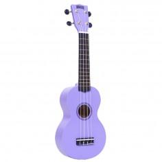 Ukelele, tipo soprano, con cuerpo y mango de sengon, puente de Mahogany, violeta