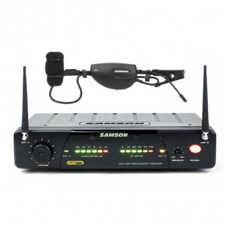 Sistema Inalámbrico AirLine 77 UHF p/Vientos c/clip, True Diversity, CR77 + AH1 c/HM40 (864.500 MHz)