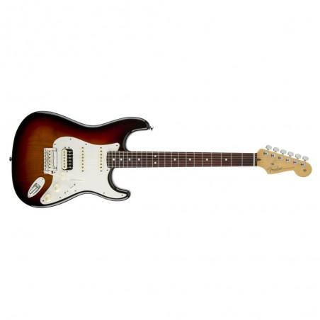 Guit. Elec. Stratocaster American Standard RWN, HSS, Mics. Cust. Shop y Shaw, c/Est., Sunburst