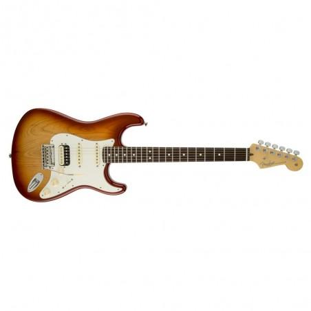 Guit. Elec. Stratocaster American Standard RWN, HSS, Mics. Cust. Shop y Shaw, c/Est.Sienna Sunburst